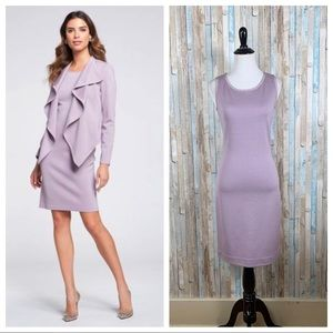 St John 2 Lavender Sleeveless Knit Sheath Dress